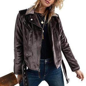Lucky Brand Velvet Moto Jacket
